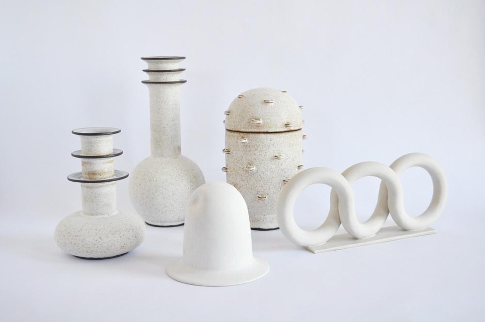 white sculptural ceramics