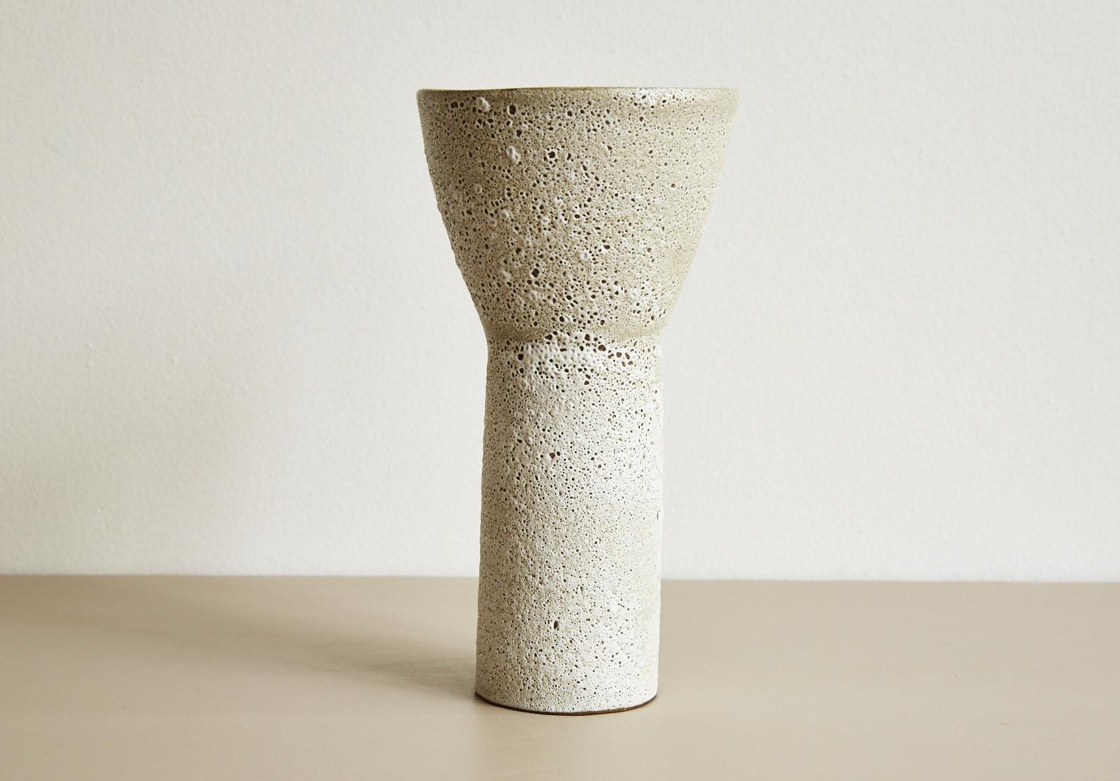 structured ceramic vase