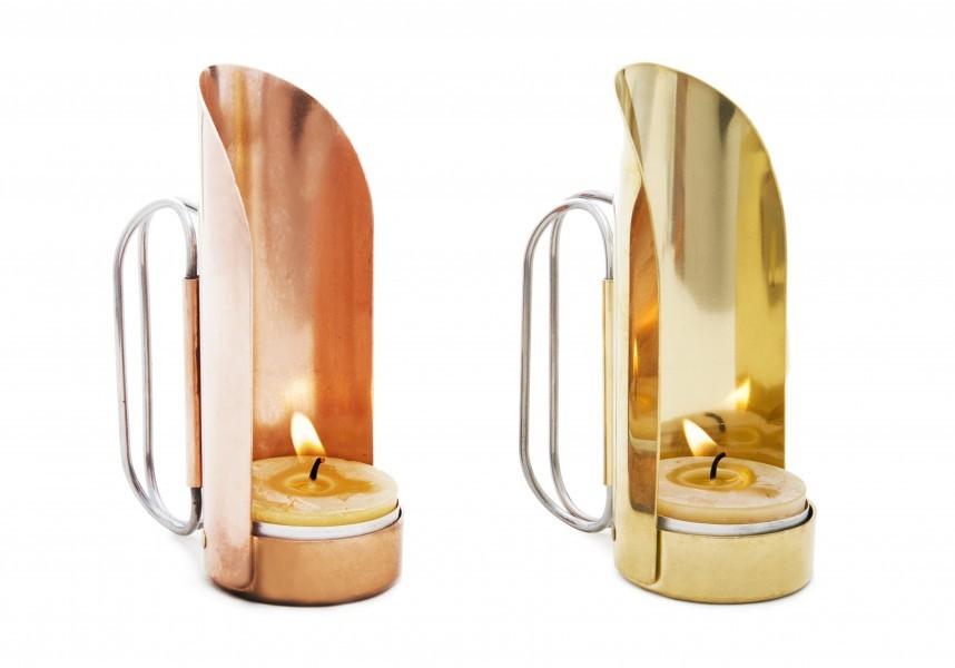 Brass rose gold hand lanterns