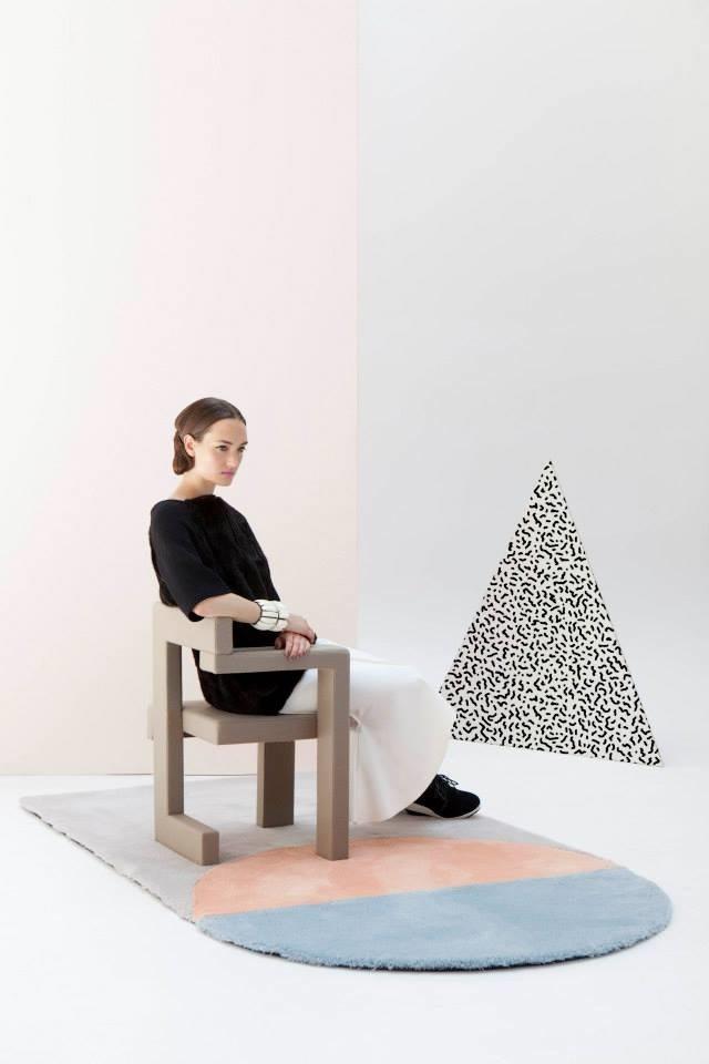 Post-modern style pastel furniture