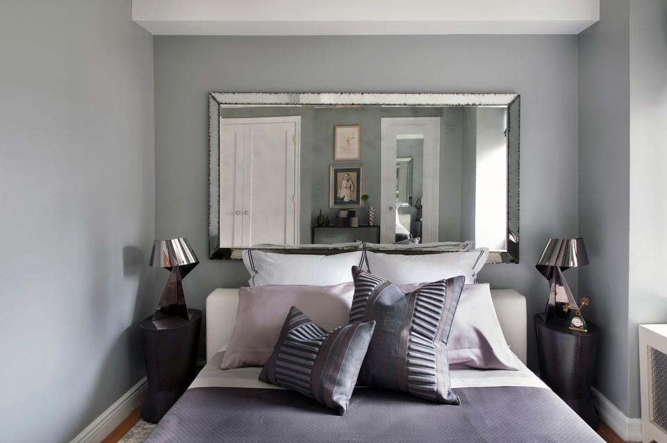 Antique mirror modern bedroom design
