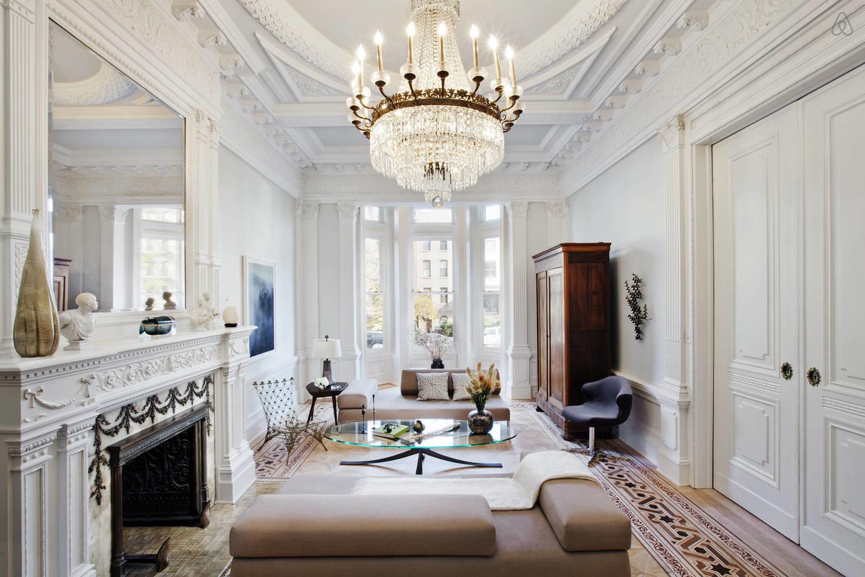 Luxury living room crystal chandelier
