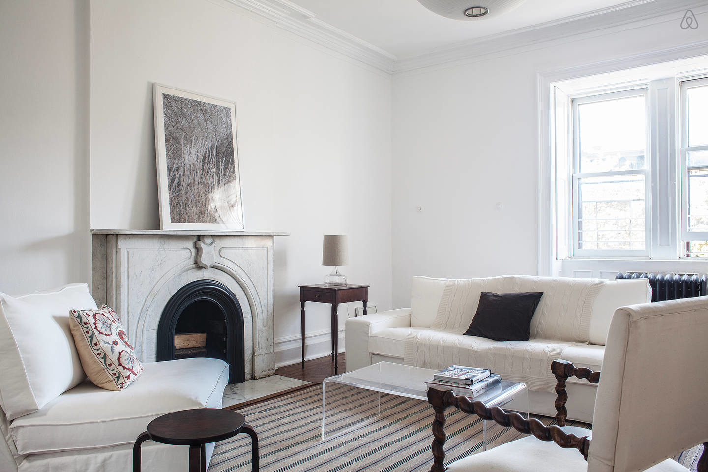 classic fireplace Brooklyn Brownstone