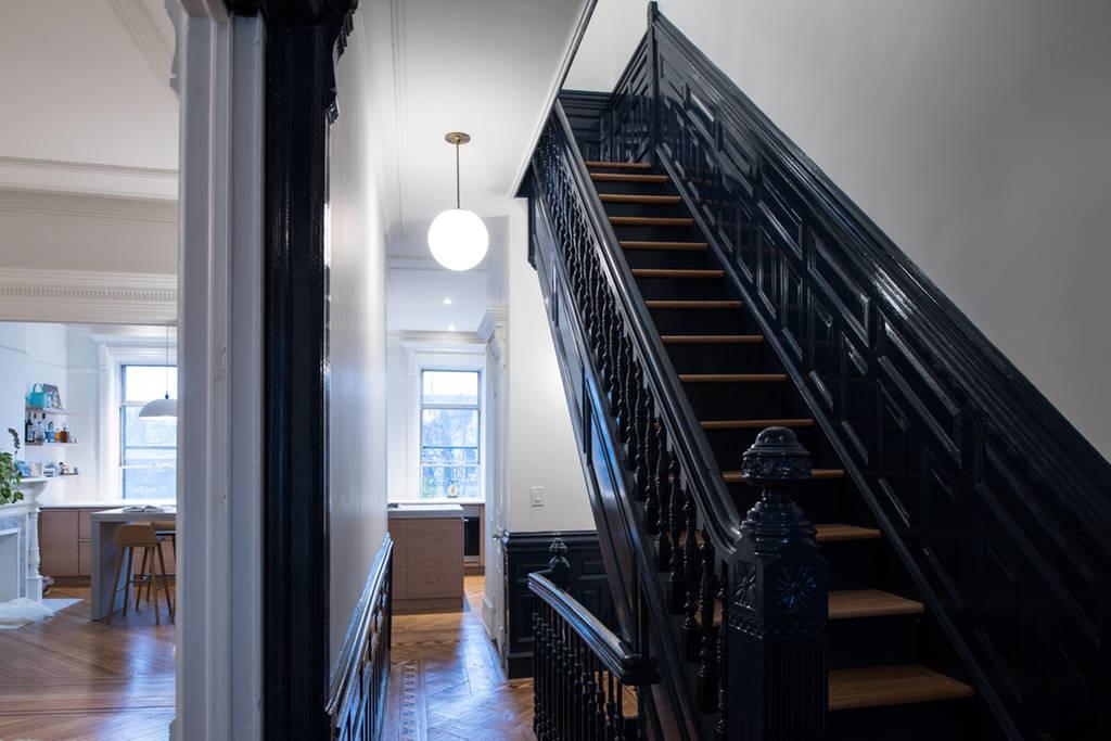 modern brownstone design stairs