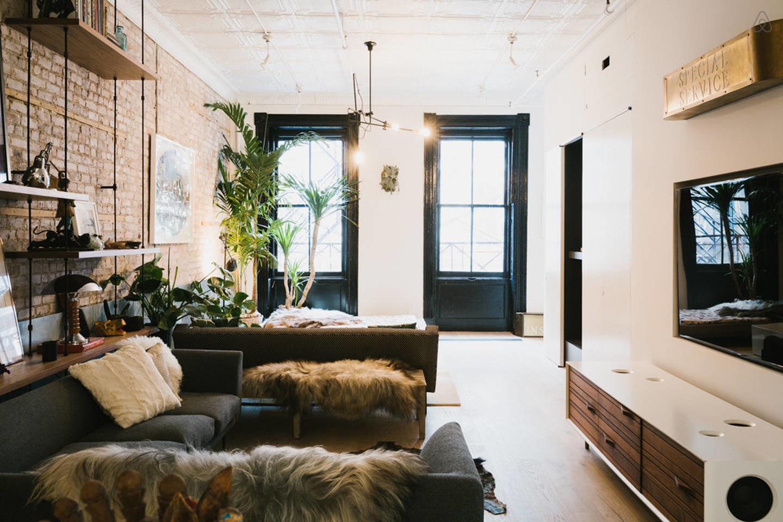 Black and white industrial loft design