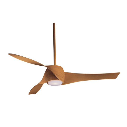 modern ceiling fan made of maple