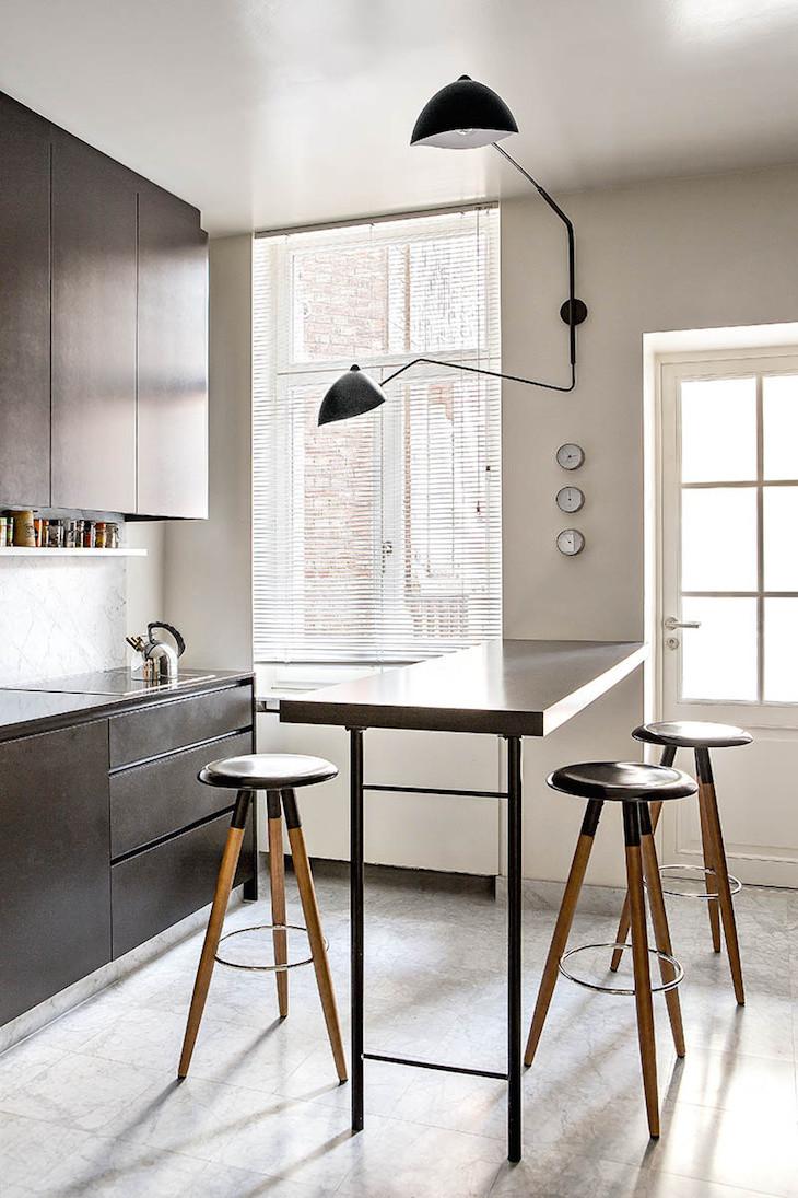 dark cabinets small kitchen design