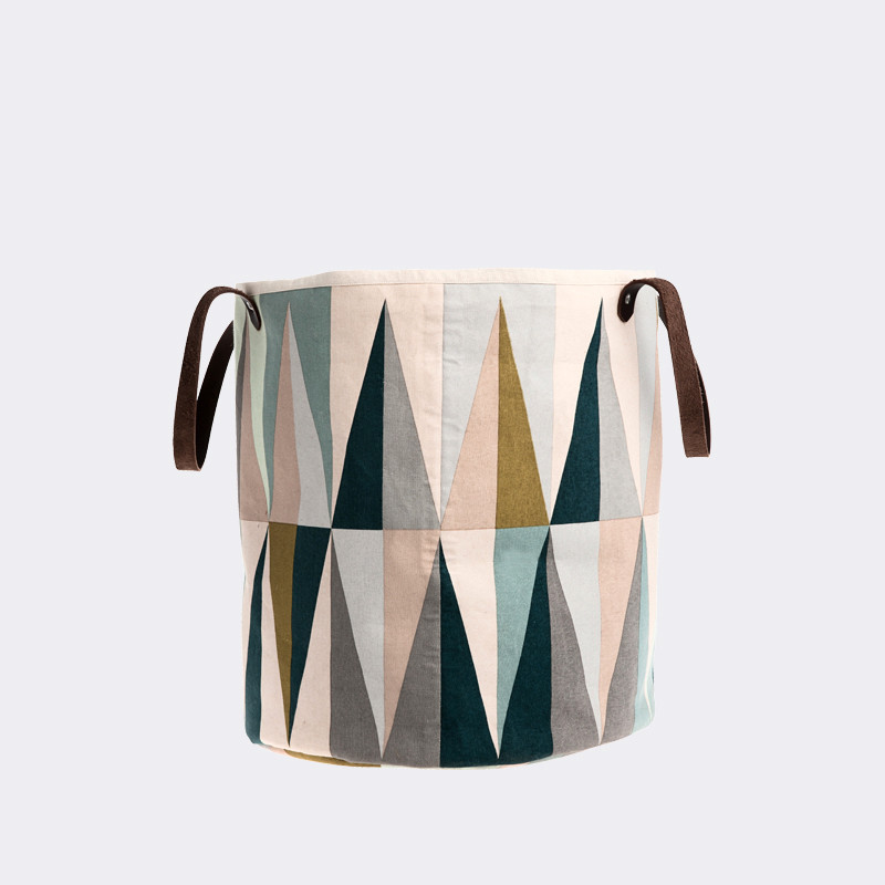 geometric pastel laundry basket