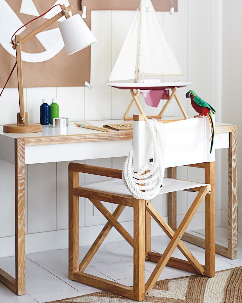 white and wooden children's desk