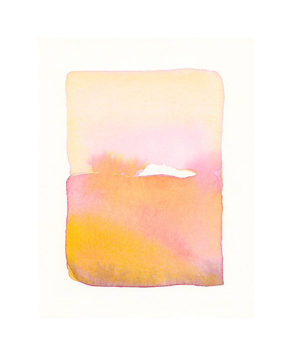 orange abstract watercolor painting