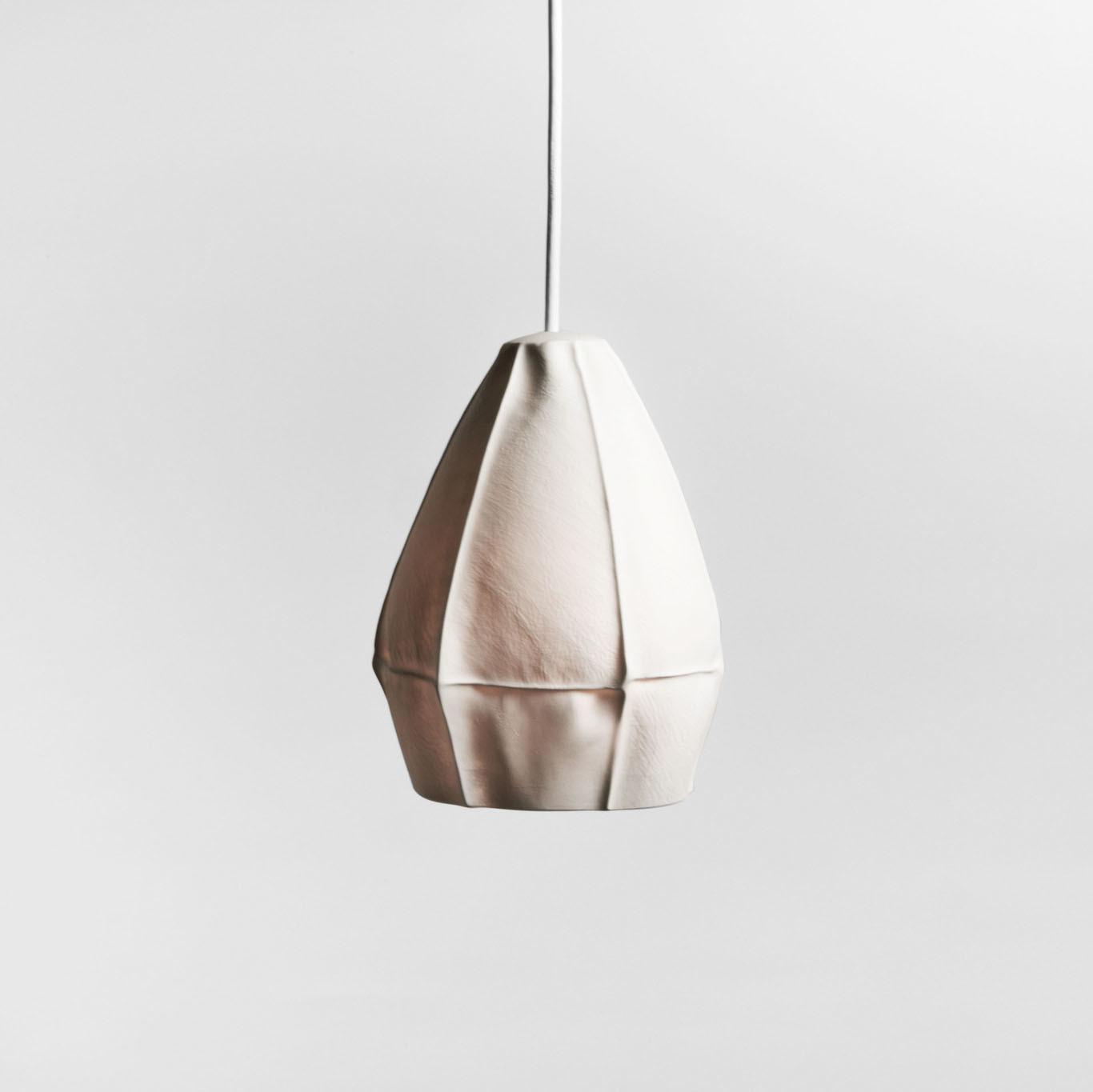 white porcelain pendant lamp