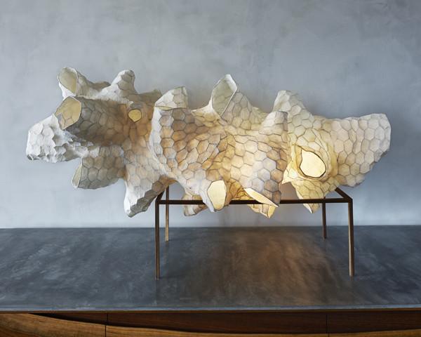 Honeycomb light sculpture