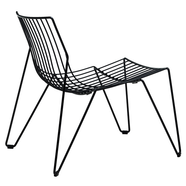 black wire outdoor chair