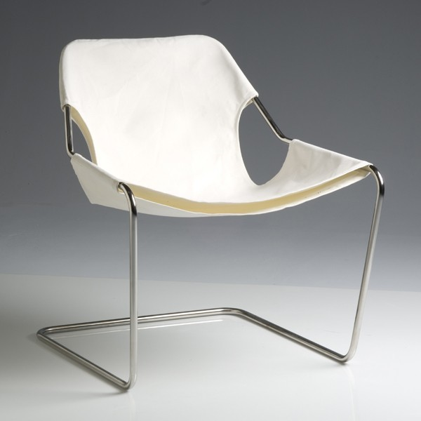 Canvas metal outdoor chair