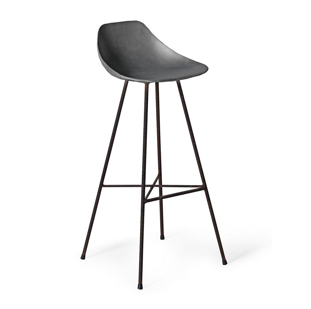 Concrete bar stool outdoors