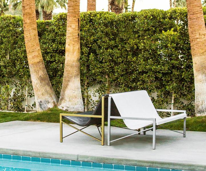 Metal frame outdoor seating