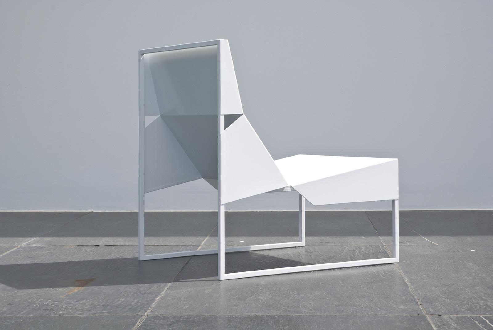 modern white garden chair