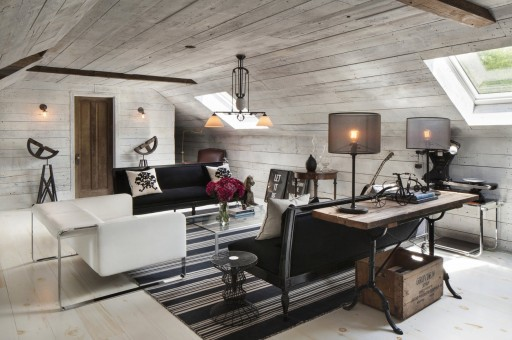 reclaimed wood walls living room design