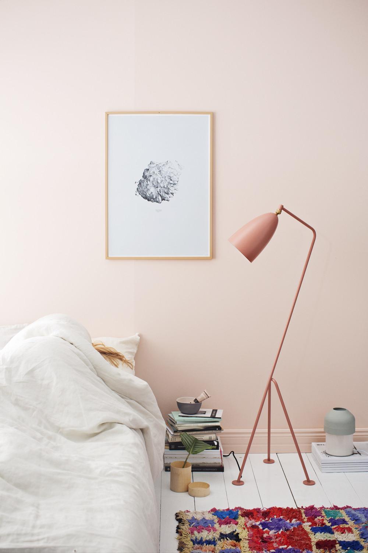 pink grasshopper lamp