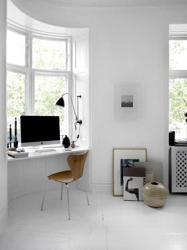 Minimal Danish home office design
