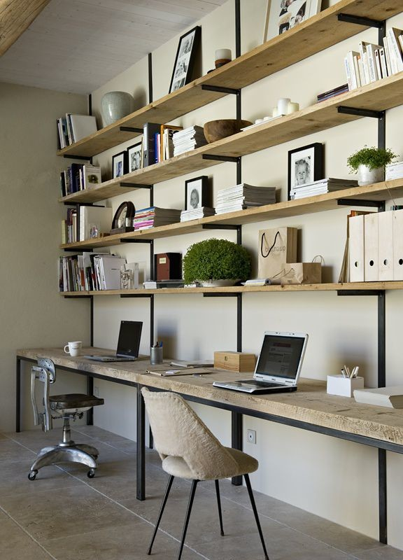 French home office shelf