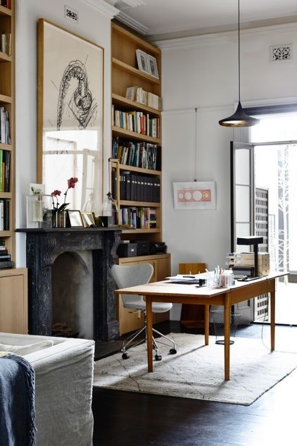 Modern Home Office French Doors