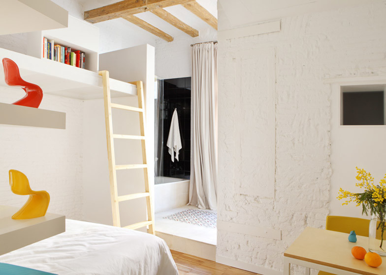 Micro apartment bedroom design