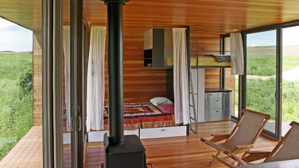 Wood paneling Micro Home Design