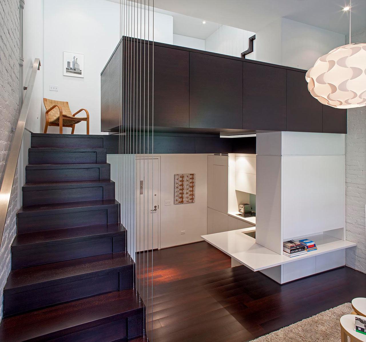 Split level urban apartment living