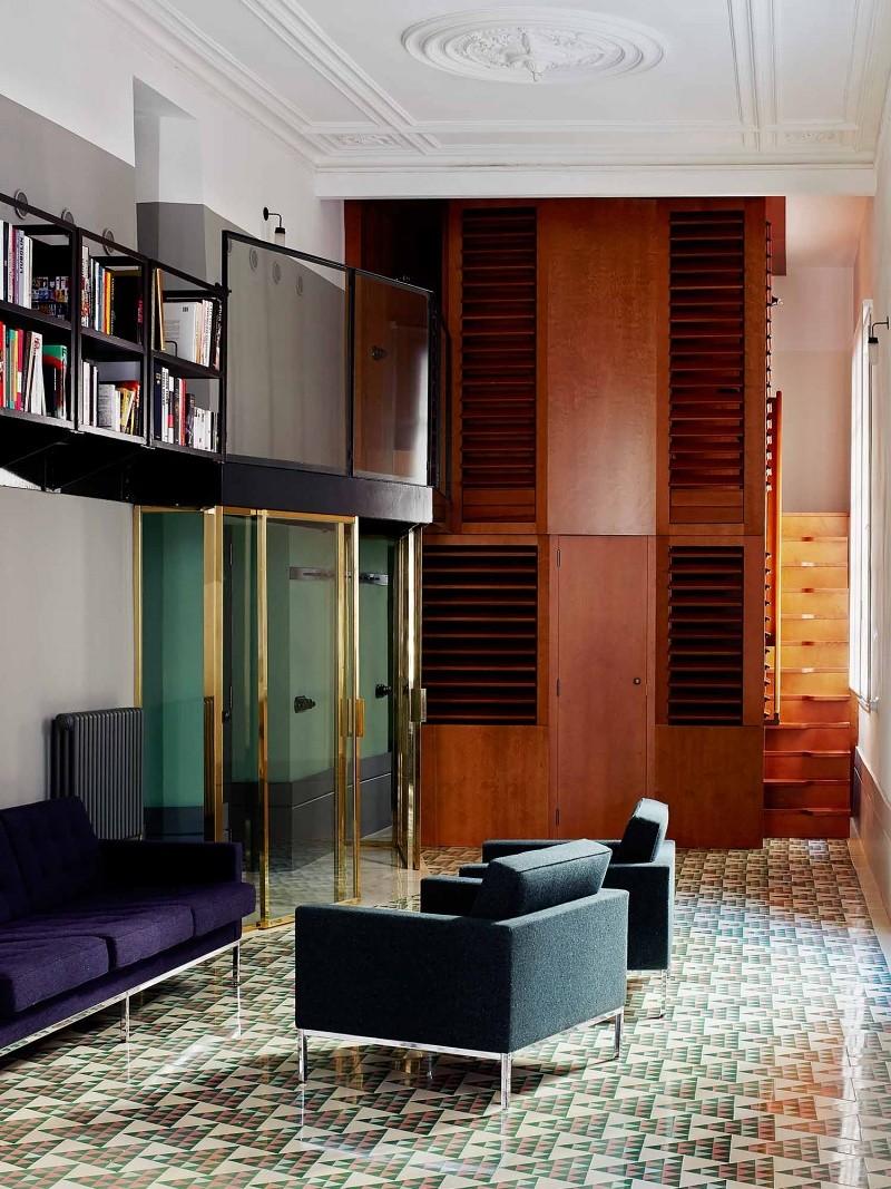 Spanish mosaic tile urban living room