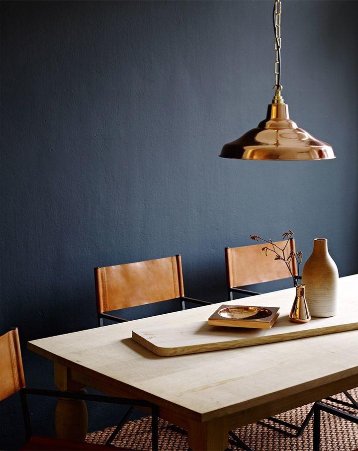 black wall copper pendant lamp