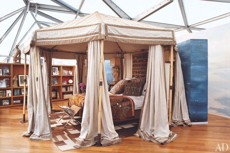 Diane von Furstenburg canopy tent bedroom
