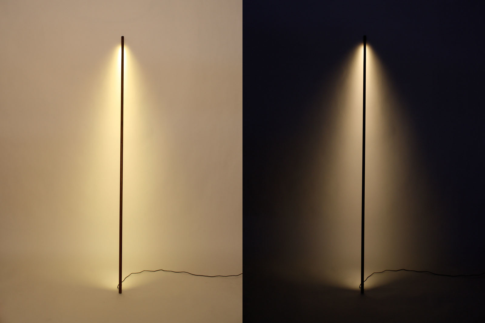 black line floor lamp