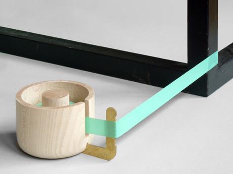 Wood brass tape dispenser