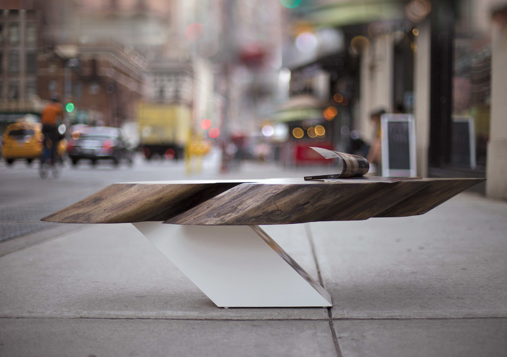 living edge thick top wooden table