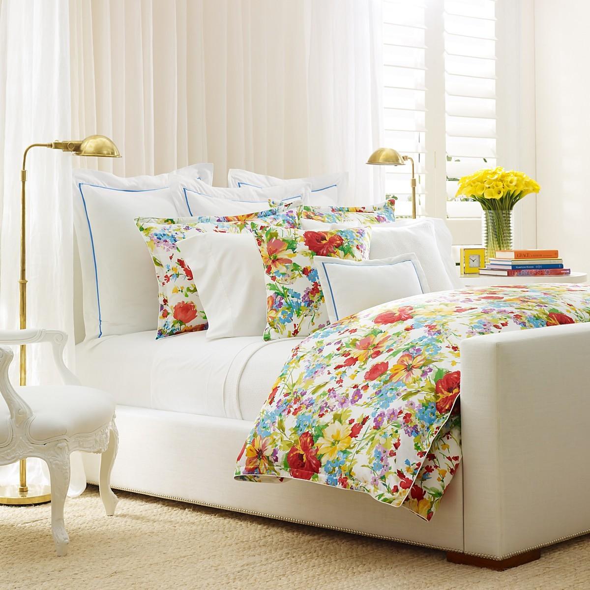 feminine colorful flower bedding