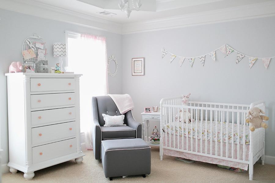 Pink and Blue Girls Nursery