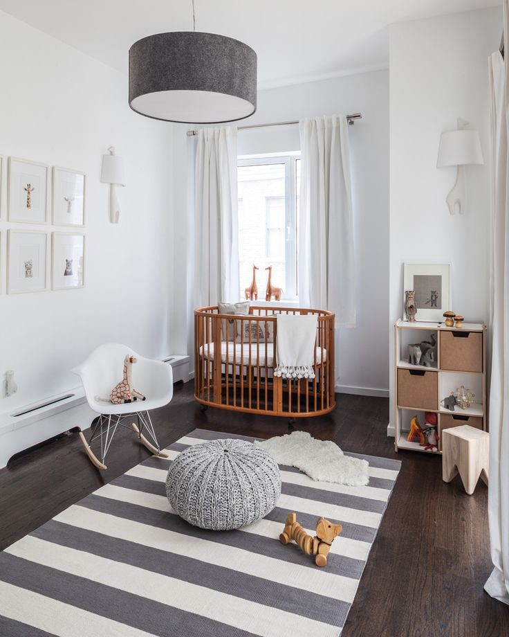 Modern gray children's room