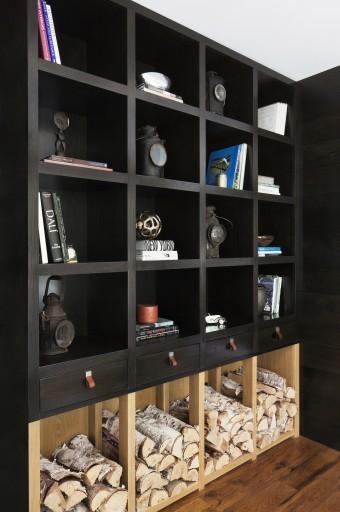 Black Custom Bookshelf Storage