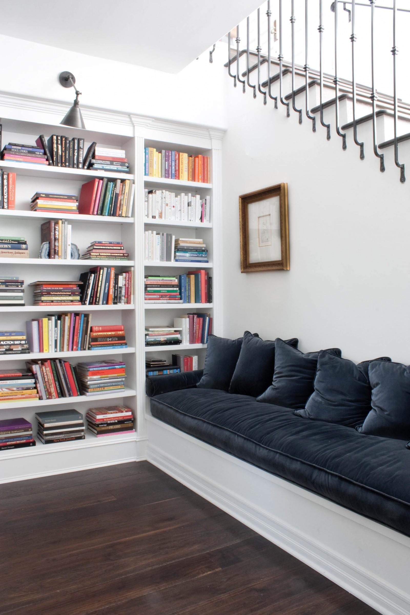 Custom bookshelf storage design