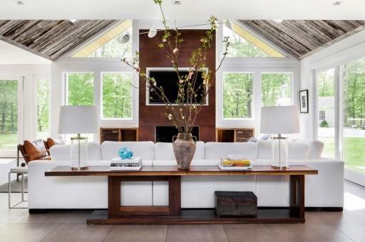 White contemporary living room