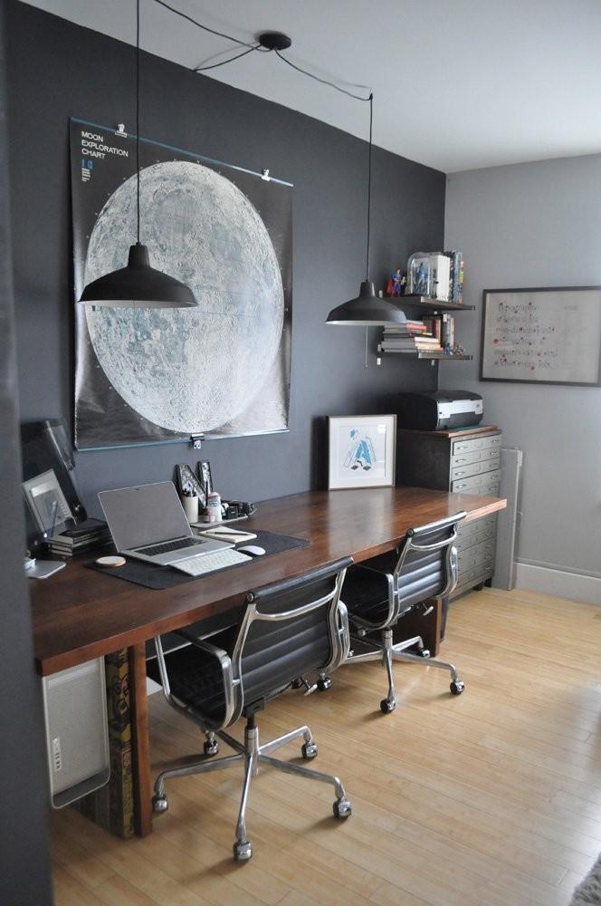 Gray male head office