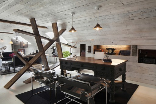 Rustic modern home office
