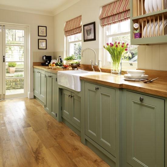 Green Country Kitchen wood worktops