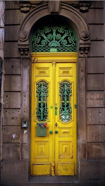 White pine front door