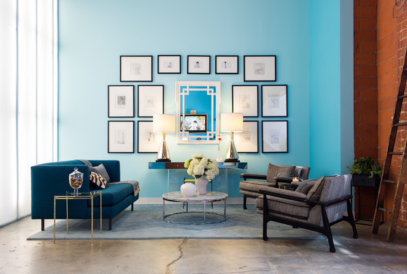 Blue start reception area