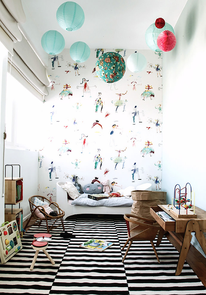 Paper lanterns nursery design