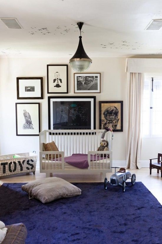 Gallery wall nursery room design