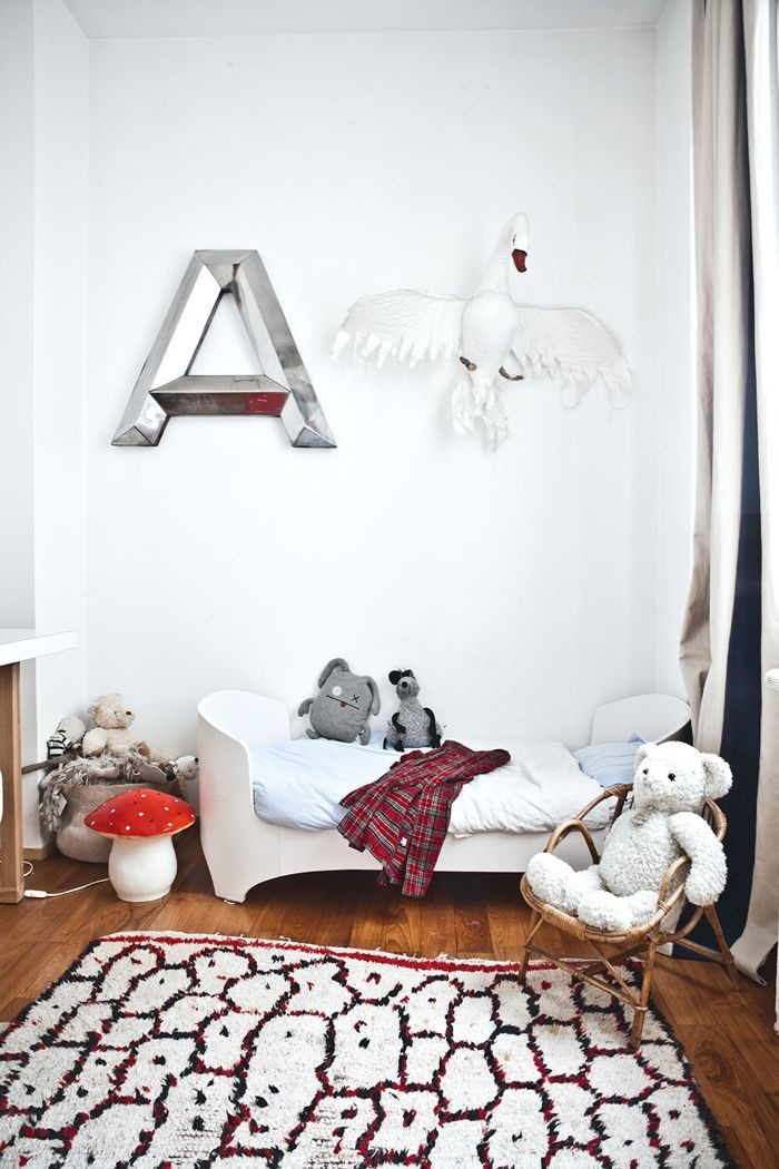 Mirrored letter wall decal nursery