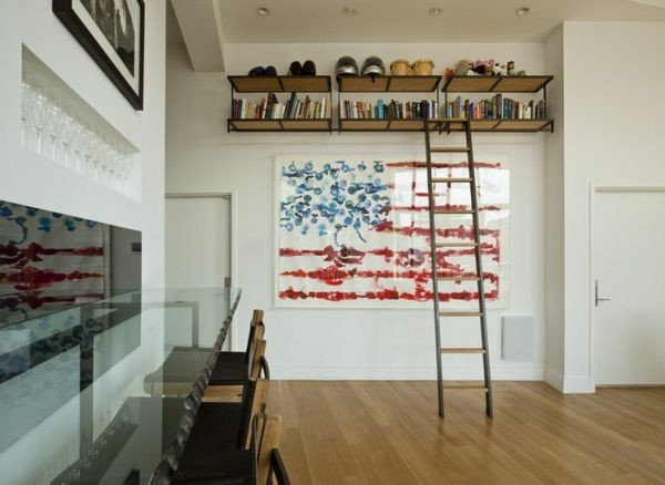 abstract american flag painting home office decor